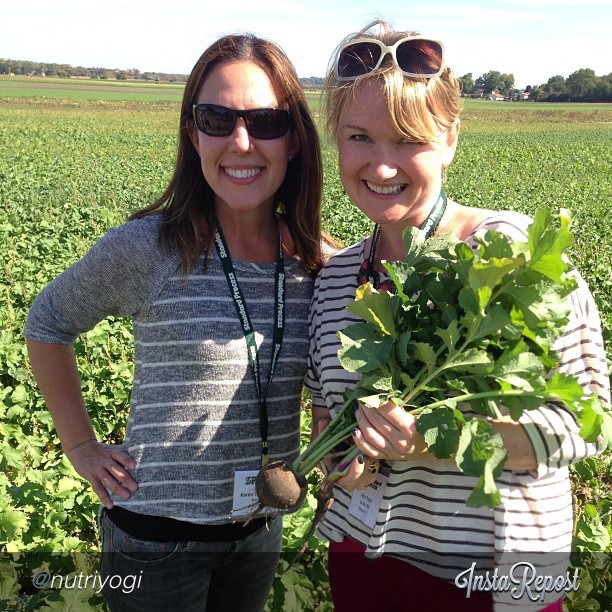 That's me and Karen frolicking in a radish field.