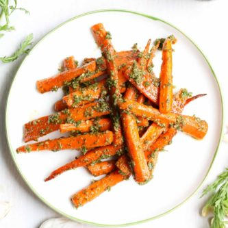 cashew-carrot-top-pesto-with-roasted-carrots