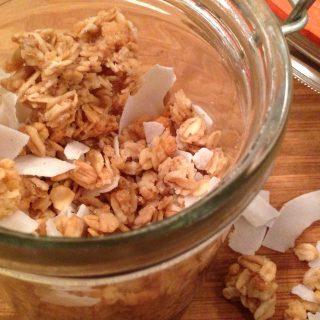 coconut almond macaron granola