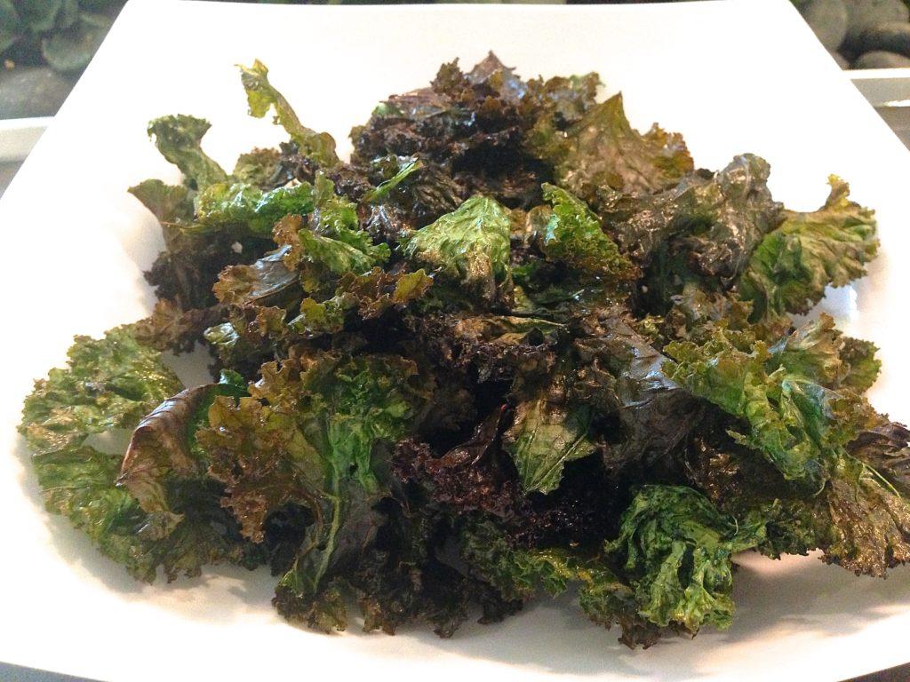 salt and pepper kale chips