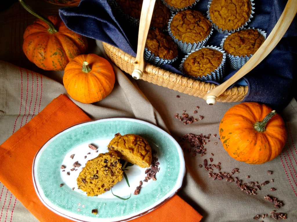 Superfood Pumpkin Cacao Muffins