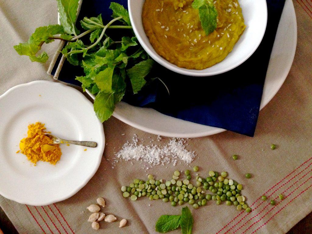 coconut split pea soup