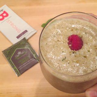 Green Tea Raspberry Smoothie