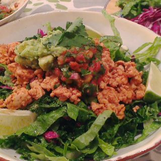 Turkey Taco Salad with Roasted Tomato Salsa