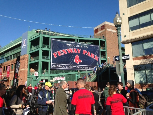 Fenway Park, an awesome location for the race!