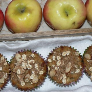 Gluten Free Apple Muffins with Streusel Topping