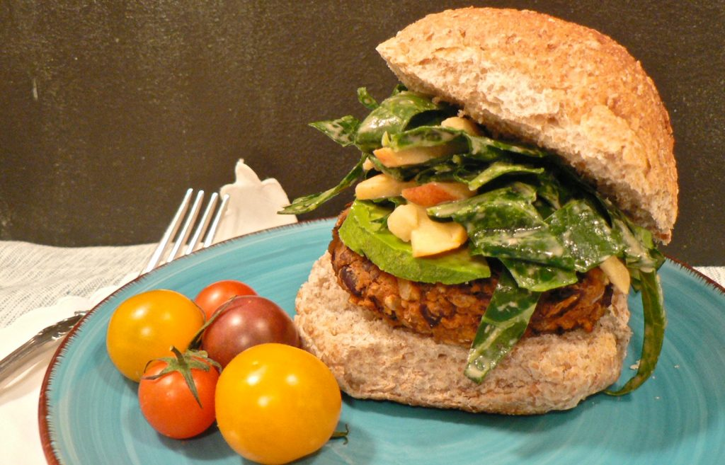 black bean and butternut squash burgers