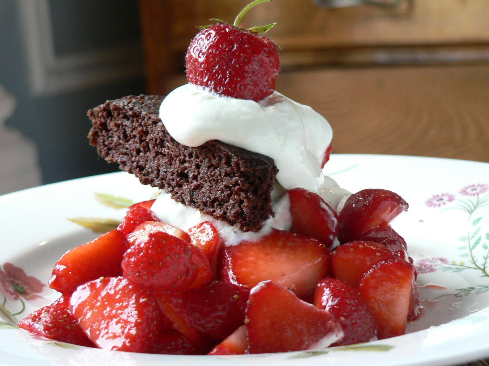 Nutritious Chocolate Strawberry Shortcake