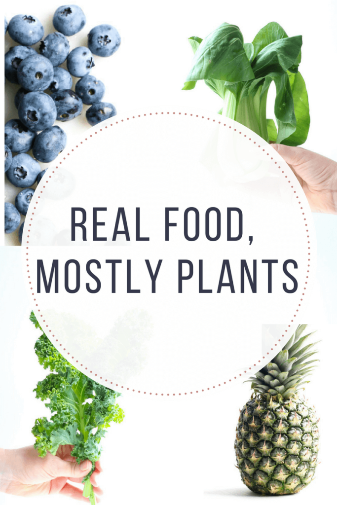 What does Real Food, Mostly Plants mean? Is it a dietary theory that fits into your lifestyle? |abraskitchen.com