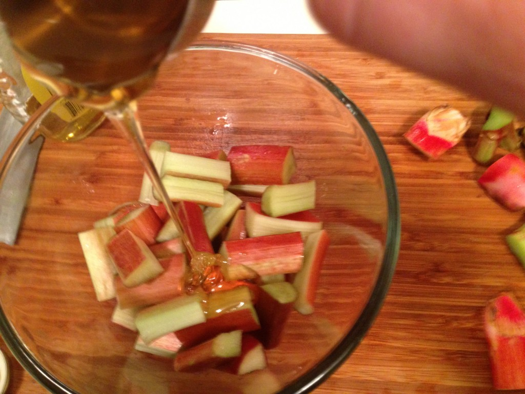 Honey Roasted Rhubarb