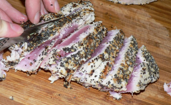 Everything Crusted Tuna