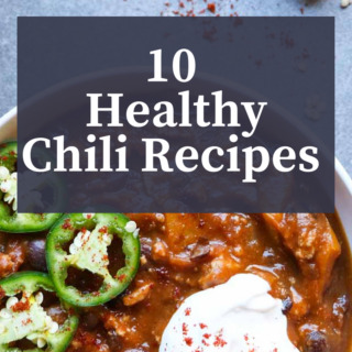 10 Healthy Chili Recipes, paleo, gluten-free, vegetarian and vegan varities, and each recipe is full of wholesome ingredients including lots of veggies!  abraskitchen.com