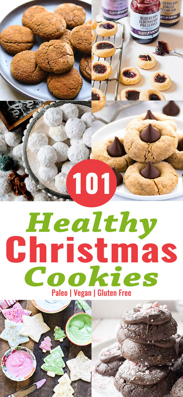 101 Healthy Christmas Cookie Recipes. Find your favorite Christmas cookie recipe here. From paleo to vegan to gluten-free to traditional.
