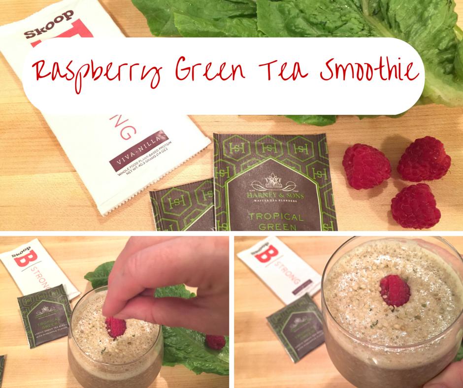 Vegan Raspberry Green Tea Smoothie