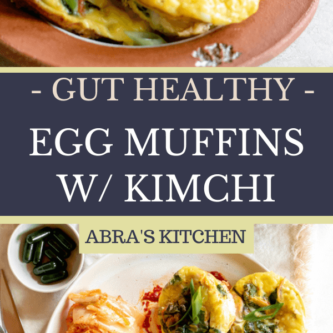 Gut Healthy Egg Muffins with Kimchi and Veggies