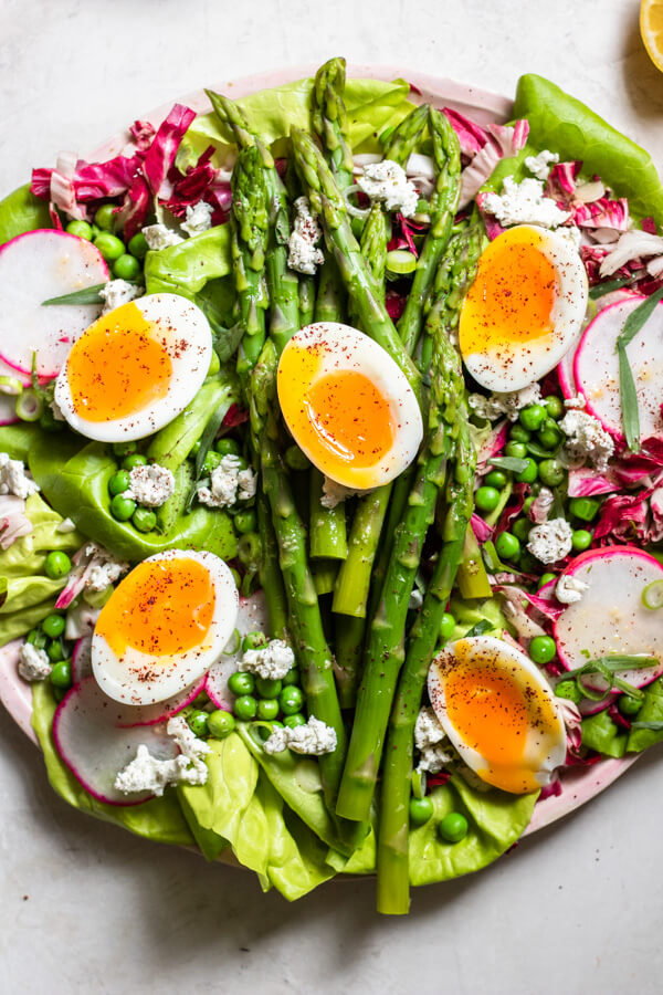 Close up of Insanely Delicious Asparagus Salad