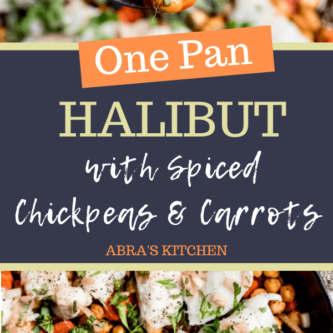 Halibut with Spiced Chickpeas and Carrots