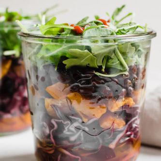 Black Bean and Butternut Squash Jar Salad