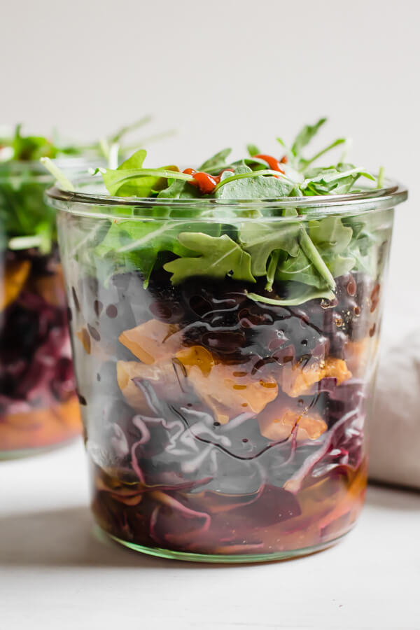 Black Bean and Butternut Squash Jar Salad