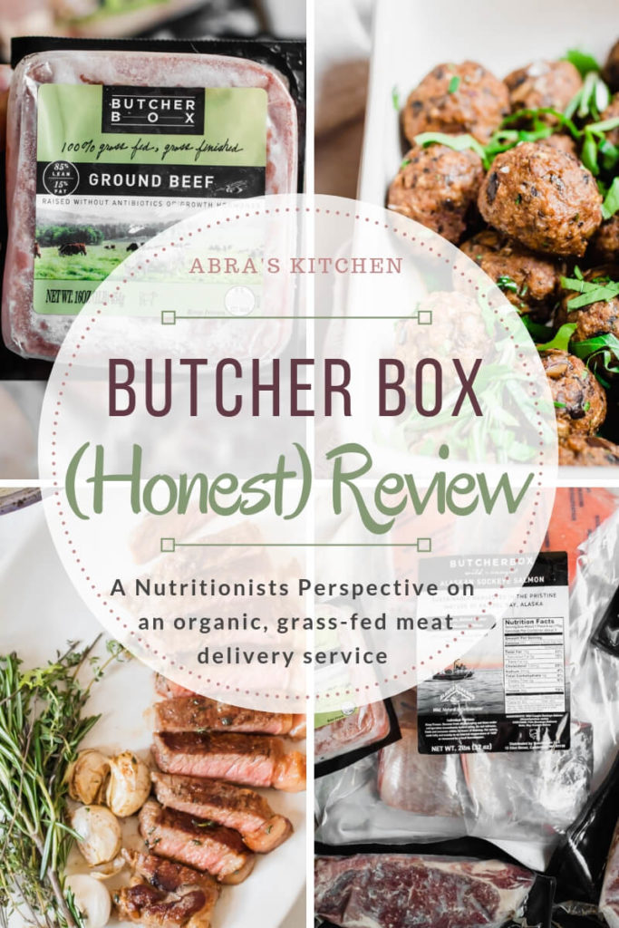 Butcher Box is a meat delivery service, have you heard of it? In this Butcher Box review, I am sharing my perspective as a nutritionist and answering the questions; Is grass-fed meat really better for you? What are the benefits of sourcing meat from Butcher Box? and is Butcher Box worth it?