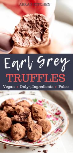 Chocolate Earl Grey Truffles