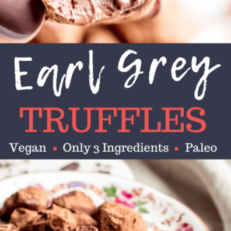 Chocolate Earl Grey Truffles