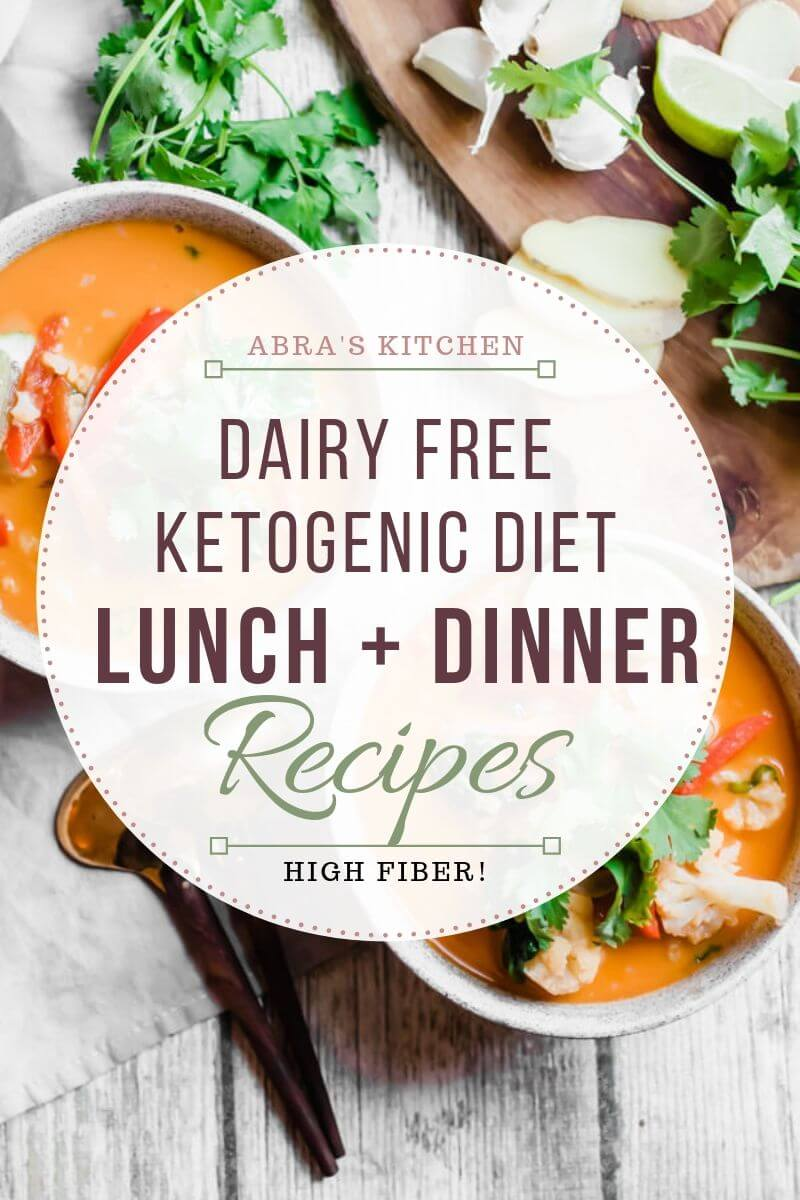 Dairy Free Ketogenic Lunch and Dinner Recipes