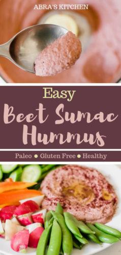 Easy Beet Sumac Hummus