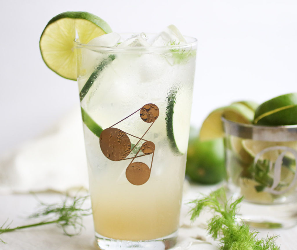 A simple delicious fennel simple syrup perfect for cocktails or a cucumber fennel mocktail! abraskitchen.com