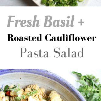 Fresh Basil and Roasted Cauliflower Salad