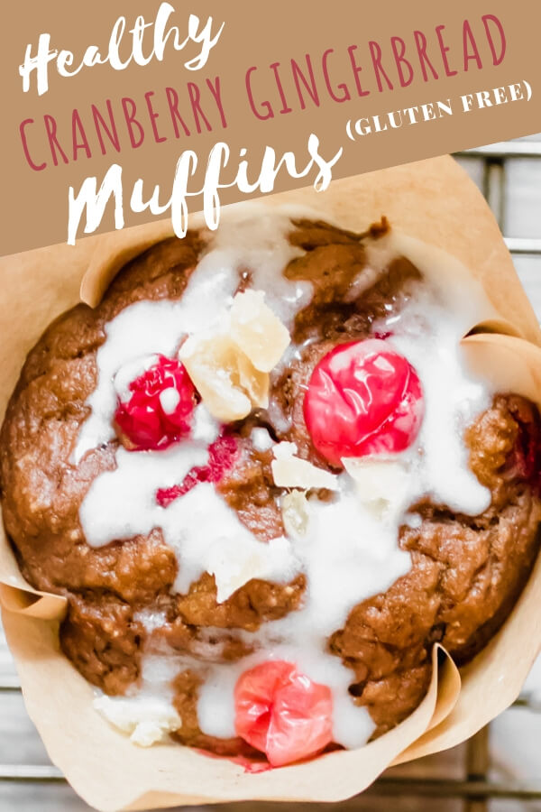 Get ready to spread some holiday cheer with these healthy cranberry gingerbread muffins! A moist delicious muffin loaded with fresh cranberries and crystallized ginger. No added oil or refined sugar. Just simple wholesome ingredients like oat flour, molasses, butternut squash, and maple syrup. Your friends and family will LOVE this recipe!