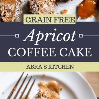 Paleo Apricot Almond Coffee Cake