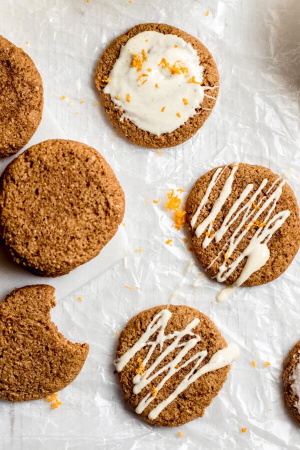 Grain Free Orange Ginger Molasses Cookie