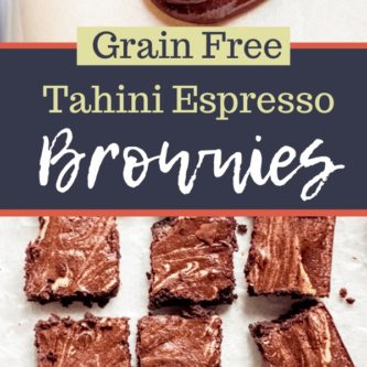 Grain Free Tahini Espresso Brownies