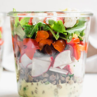 Greek Lentil Jar Salad