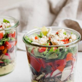 Greek Lentil Jar Salad