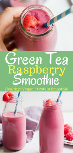 Green Tea is the base this delicious healthy protein smoothie. Loaded with antioxidants and only 4 easy ingredients!