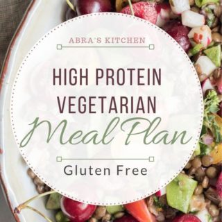 A super healthy, high-protein, gluten-free vegetarian meal plan. This meal plan is full of delicious, easy recipes, that are health supportive and free from animal protein.