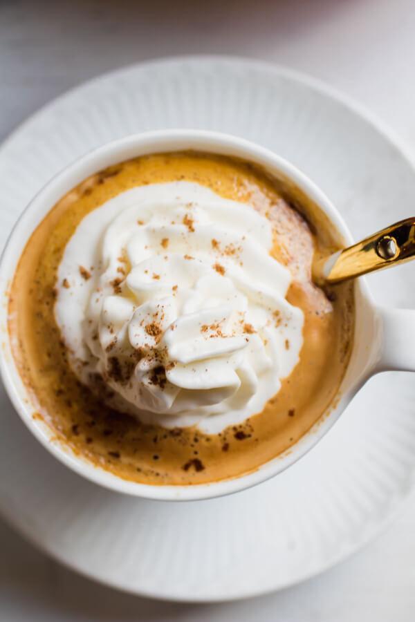 Homemade Vegan Pumpkin Spice Latte