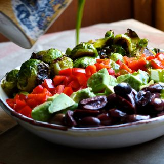 Roasted Brussels Sprout Quinoa Bliss Bowl