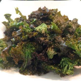 salt and pepper kale chips