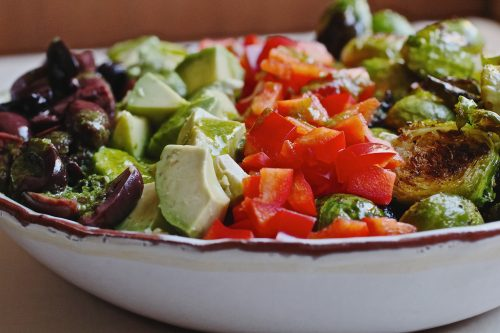 Roasted Brussels Sprout Quinoa Bliss Bowl, simple ingredients make a super healthy vegan lunch.
