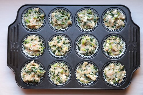Kale and feta cheese meatloaf muffins is a quick and easy dinner recipe.Creamy feta cheese, yummy kale, and lots of dill in the perfect single serve size.