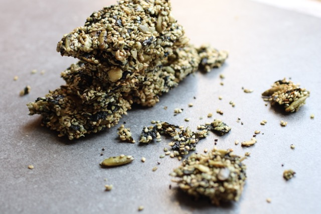 "A sweet, salty, crunchy, and super satisfying superfood snack. Sweet and salty sesame seaweed bars are the healthiest ""granola"" bar in town. Full of functional ingredients that will give you a burst of energy and leave you feeling satisfied for hours. Snacking upgraded