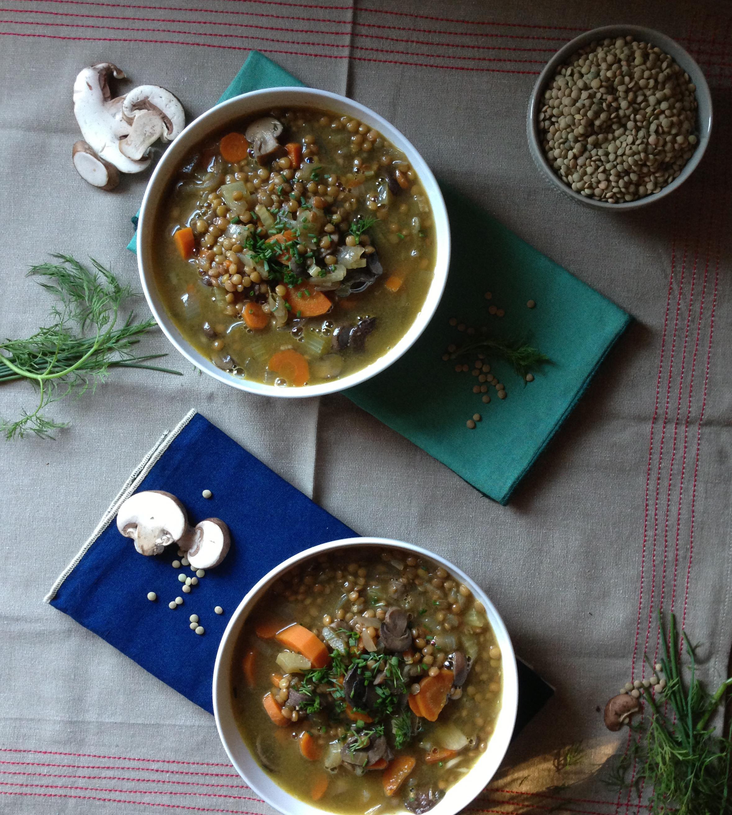 very veggie lentil soup