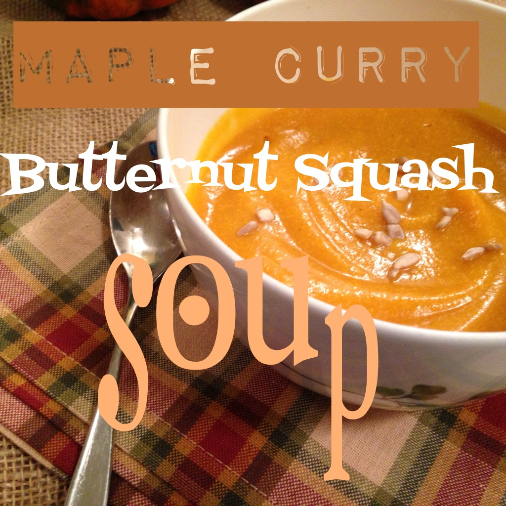 maple curry butternut squash soup