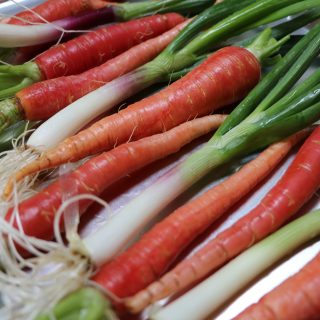 carrots and scallions