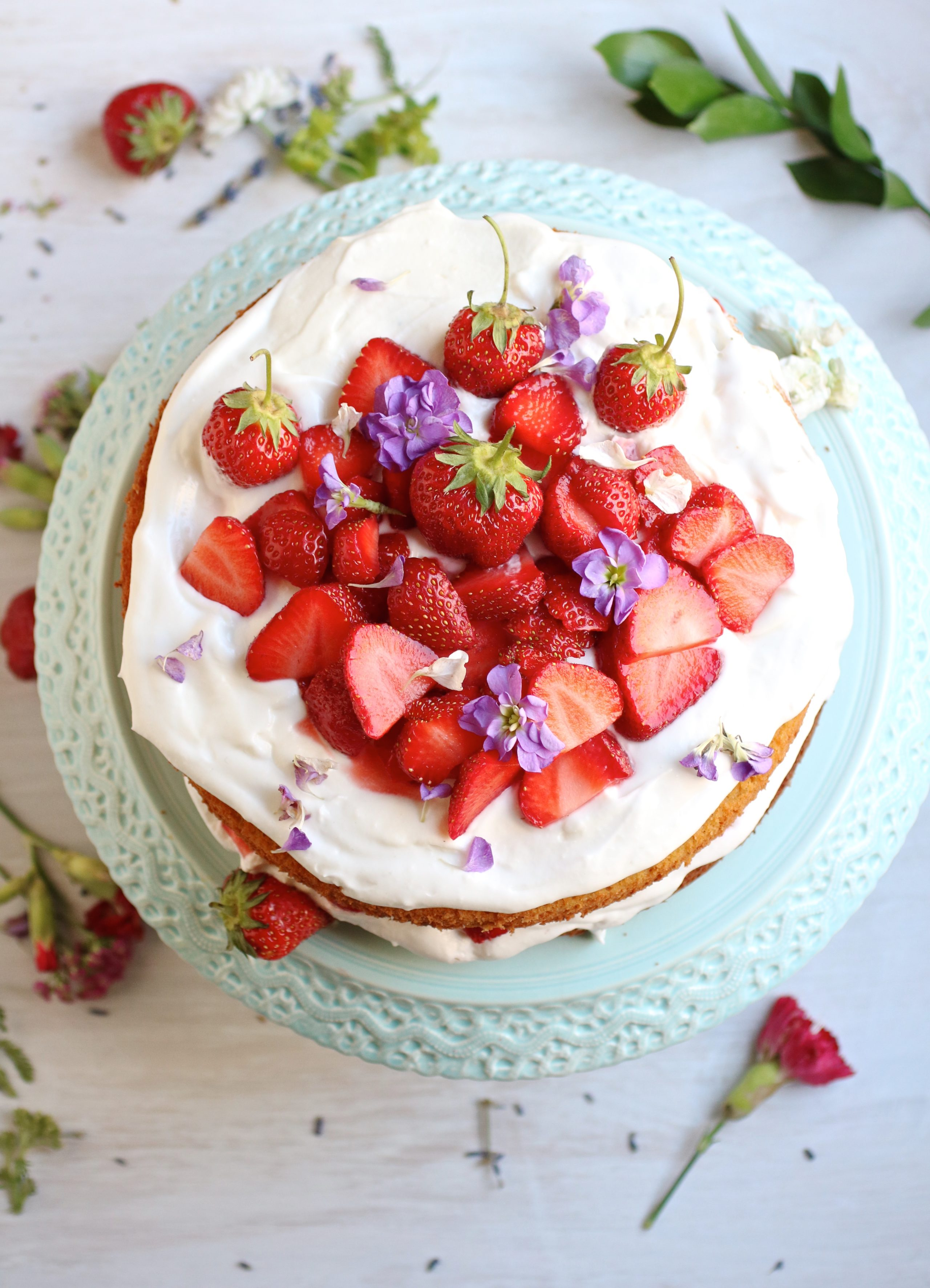 gluten free strawberry almond cake