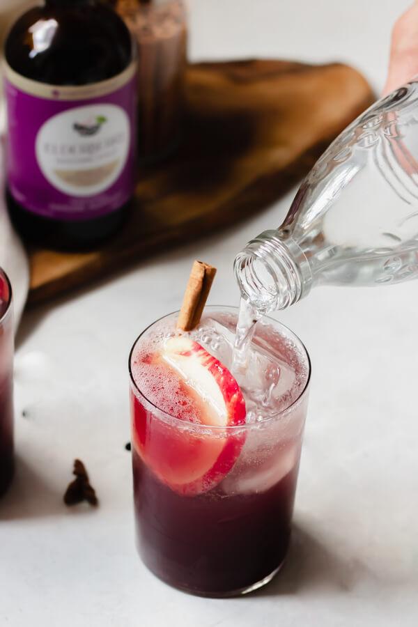 Immune Boosting Elderberry Cider Sparkler