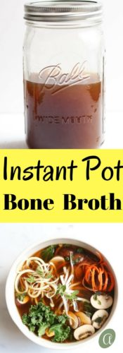 Nutrient dense, super duper healthy, bone broth cooked simply and easily in the instant pot. Healing is only 45 minutes away!